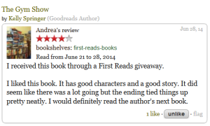Andrea via Goodreads